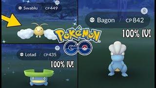 Pokémon GO | SHINY SWABLU! + 100% IV Wild Bagon, Lotad, Makuhita & More! Rare Hunting Ep. 86