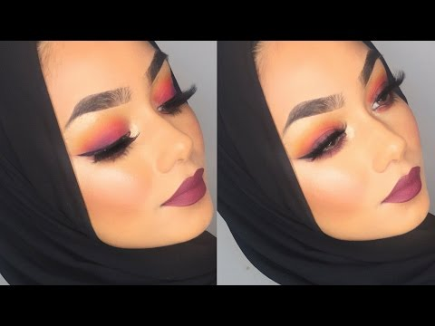 Sunset eyeshadow makeup tutorial