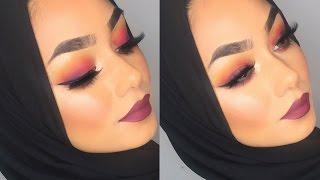 Sunset eyeshadow makeup tutorial | Sabina Hannan