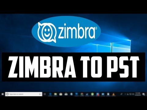 How to Convert  Zimbra Desktop Mail Files into a pst