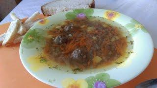 Быстрый и лёгкий суп с фрикадельками(Диетический суп)/ Fast and easy Meatball Soup