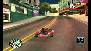 GTA San Andreas Картинг 100% Прохождение 18+