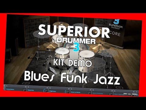 SUPERIOR Drummer 3 - Demo Blues/Funk/Jazz - Preset overview TOONTRACK
