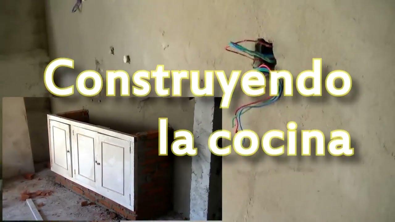 Cocina y bajo mesada de ladrillos youtube Construir una pileta de ladrillos