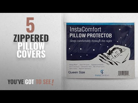 Top 10 Zippered Pillow Covers [2018 ]: Allergy Pillow Covers – InstaComfort Super Soft 100% Cotton