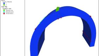 Discrete Element Modelling Of A Skew Masonry Arch Bridge Under Line Load At Quarter Span.