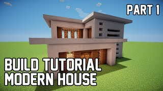 Minecraft: How to Make Modern House 1 (Part 1)