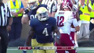 Notre Dame Vs Temple Highlights