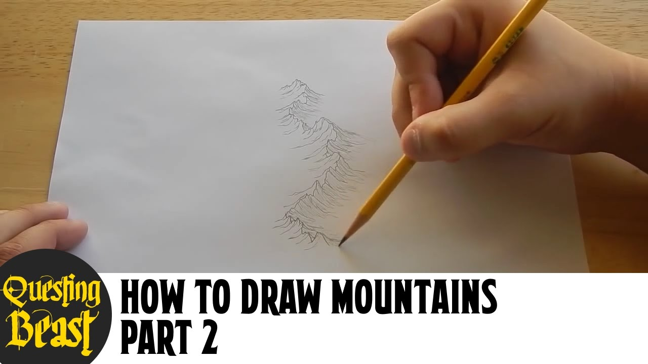 It is a graphic of Playful Drawing Mountains On A Map