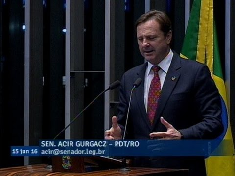 Acir Gurgacz defende antecipação das eleições presidenciais para outubro deste ano