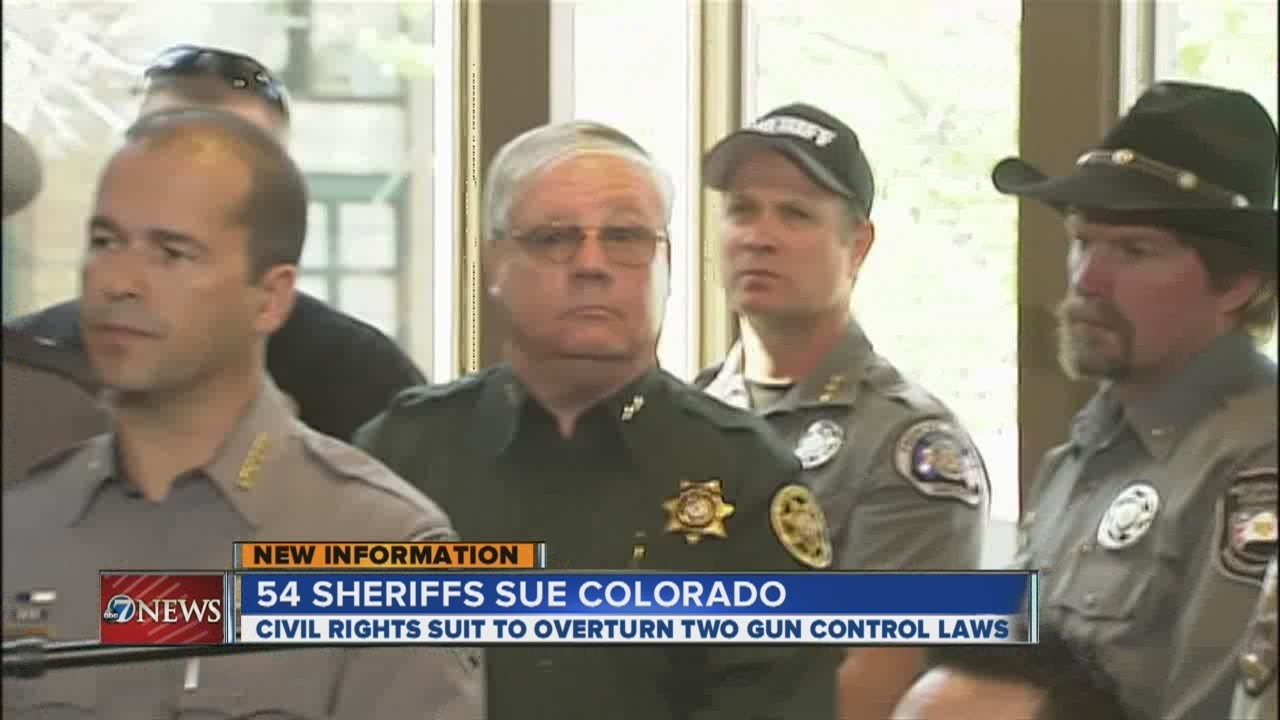 54 Colorado sheriffs suing to block two new state gun control laws