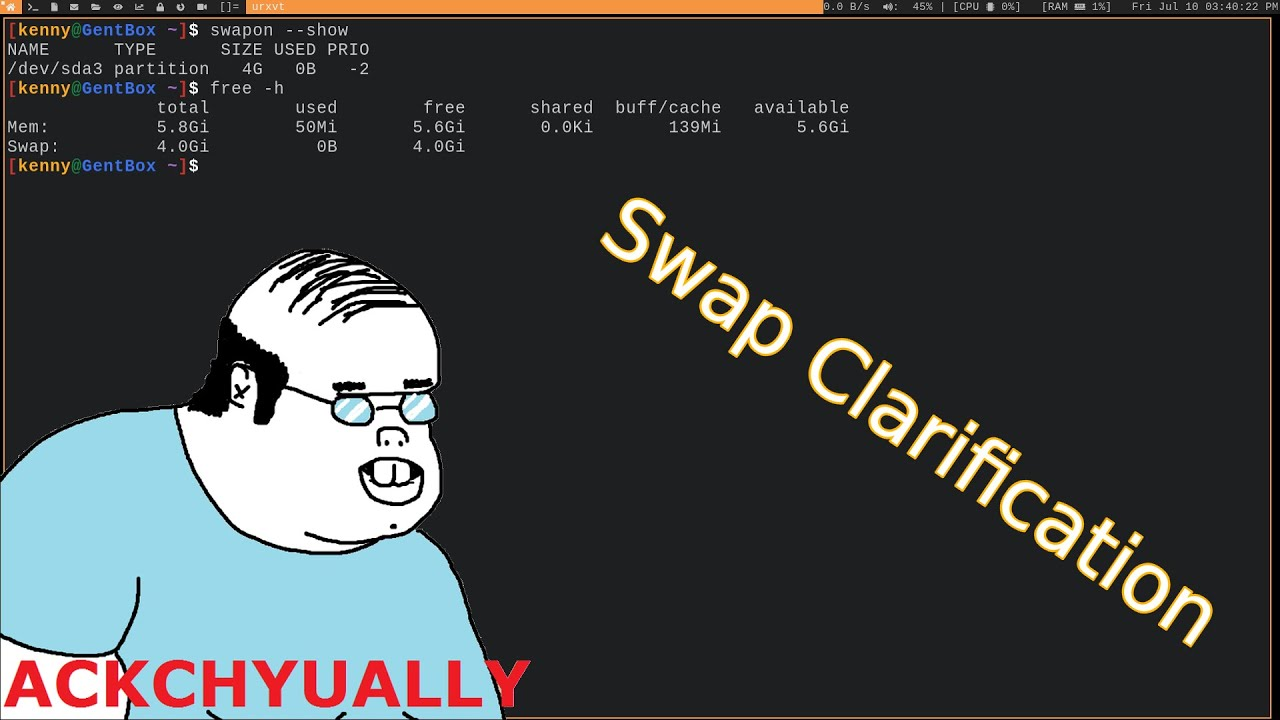 A Clarification of Swap Space on Linux