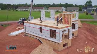 Panelized Walls and Floor installation