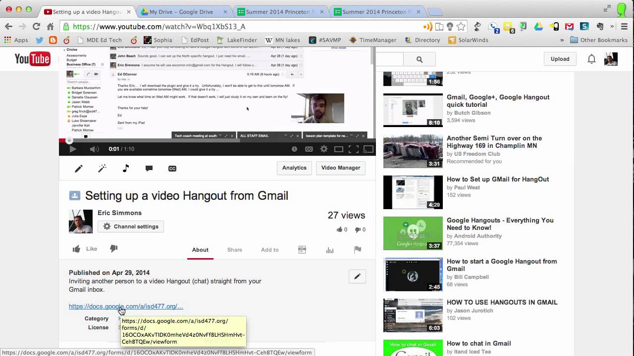 Embedding link to Google Form assessment on YouTube - YouTube