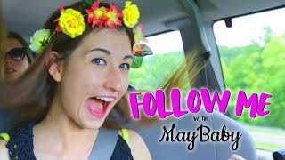 How To Make a Flower Crown w/MayBaby! - FOLLOW ME EP 10