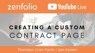 Creating a custom contract page - Zenfolio Live January 25th 2018