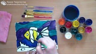 9 техник гуашевой  живописи для детей