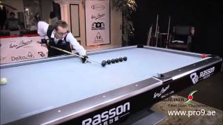 Epic Cue Skills On A Pool Table