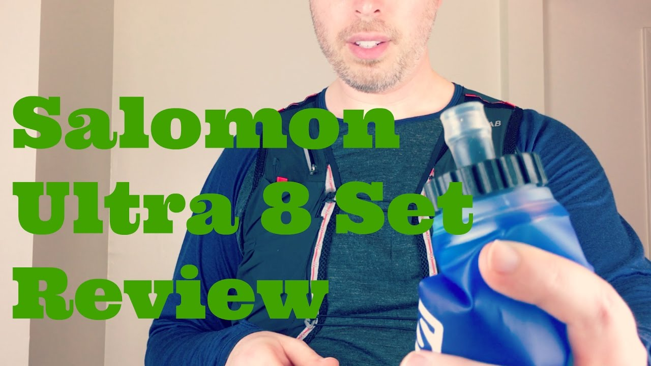 f50cd281862 Salomon S-Lab Sense Ultra 8 Set Hydration Running Vest Review - YouTube
