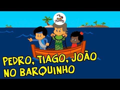 Pedro, Tiago, João no barquinho - 3Palavrinhas - Volume 4