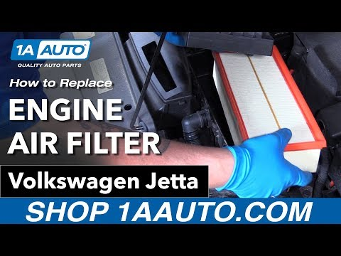 How to Replace Engine Air Filter 11-18 Volkswagen Jetta