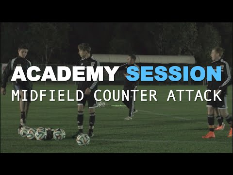 Football Academy Session 6  - Counter Attacking from Midfield