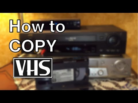 How To Copy VHS Movie Tapes When You Can't In 1986