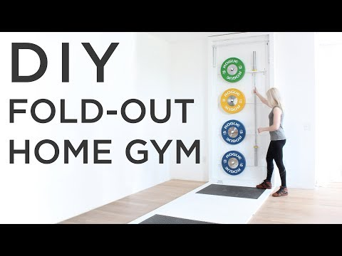 DIY Fold-Out Gym | How make a CrossFit style gym at home