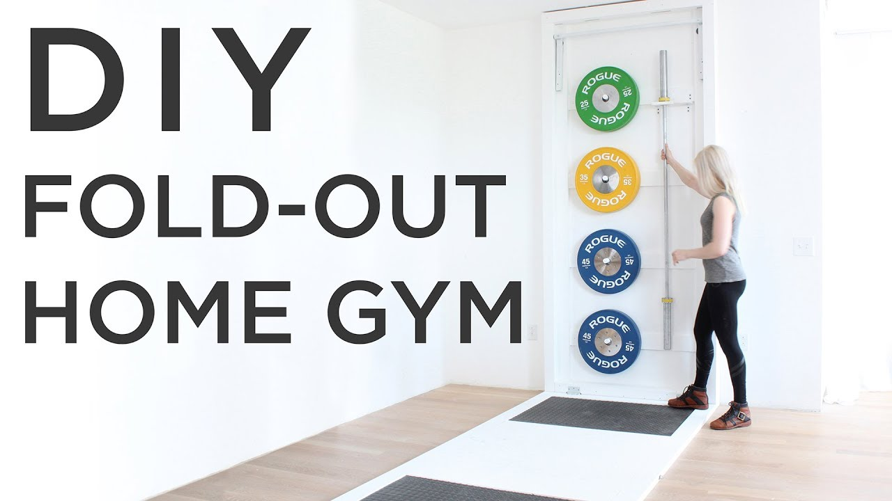 DIY Fold-Out Gym | How to make a CrossFit style gym at home - YouTube