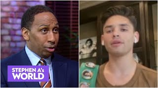 Stephen A. reacts to Ryan Garcia's Gervonta Davis guarantee: 'Oh my goodness' | Stephen A's World