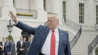 President Trump Departs on Marine One