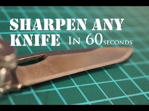 The Laziest Way to Sharpen Any Knife to Razor Sharp 2