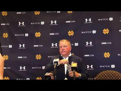 Notre Dame HC Brian Kelly Talks Ian Book Decision