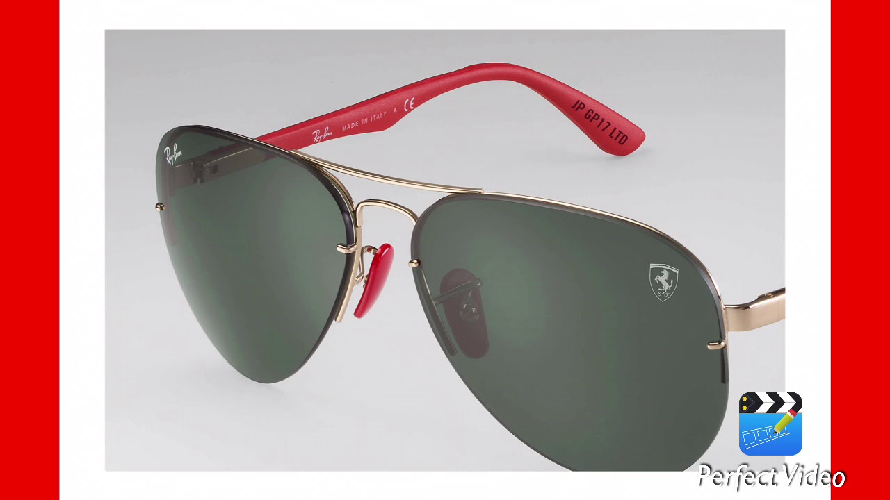 2fee0dcf9503b Coleccion Ray ban Scuderia Ferrari - YouTube