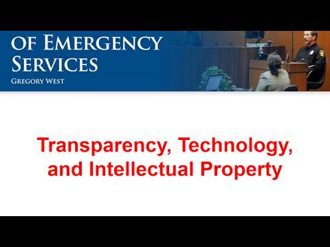 Legal 07 - Transparency, Technology, and Intellectual Property