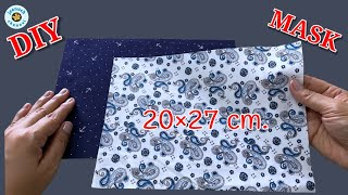 Easy Diy Face Mask Very Breathable Face Mask Face Mask Sewing Tutorial Máscara 3D