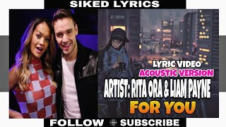 For You by Rita Ora and Liam Cover Song (Lyrics)