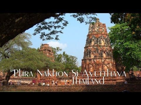 Храмовете в Аютая, Тайланд - Phra Nakhon Si Ayutthaya Thailand 4K Nikona Travel