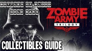 zombie army trilogy tower of hellfire all collectibles bottle of blood gold bars
