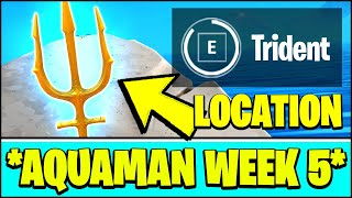 CLAIM YOUR TRIDENT AT CORAL COVE Location - FREE TRIDENT PICKAXE (Fortnite AQUAMAN Challenge Week 5)