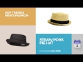 Straw Pork Pie Hat Hot Trends Men's Fashion