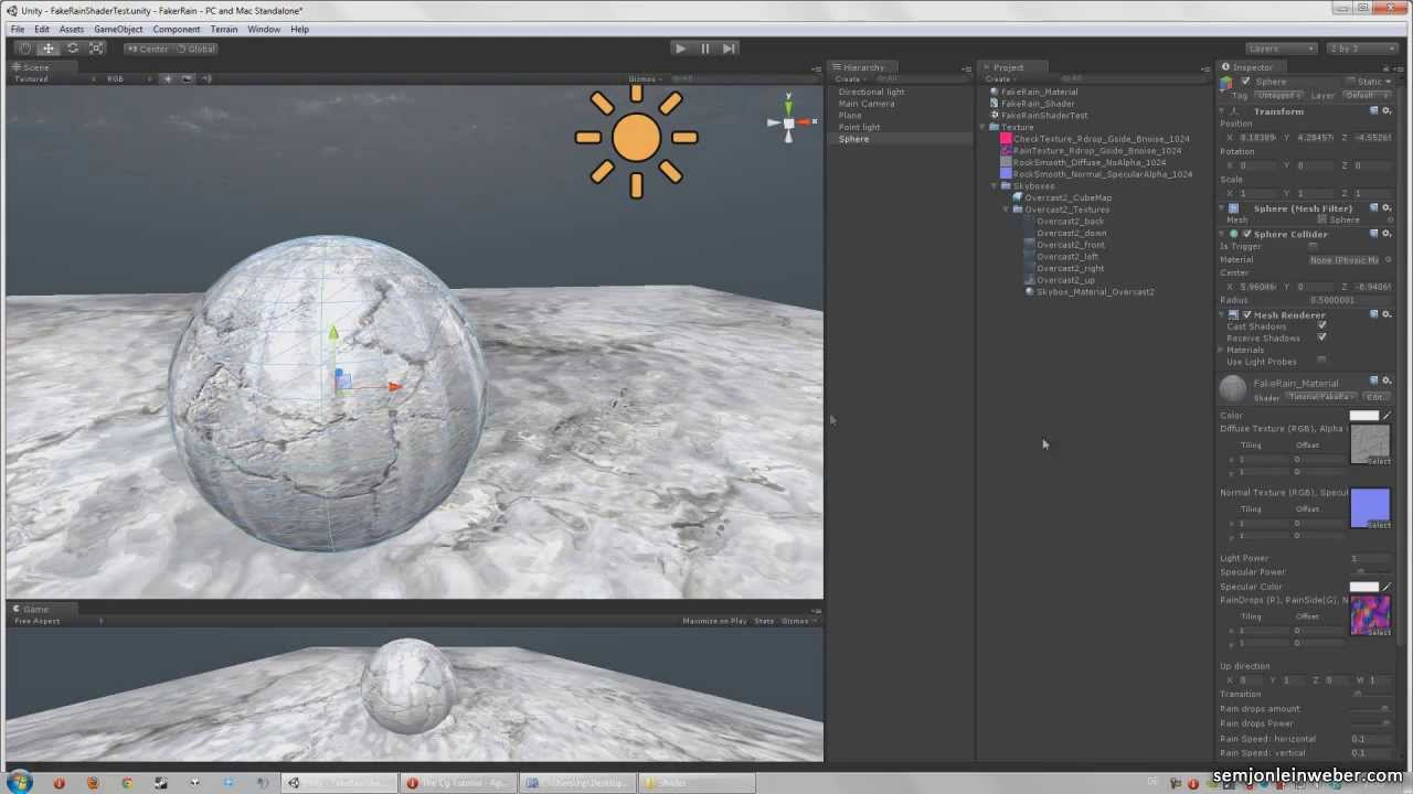 Fake rain surface shader Tutorial with Unity (Part 3/3): extras
