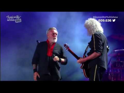 Queen Roger Taylor A Kind Of Magic Live Rio+Solo drums HD