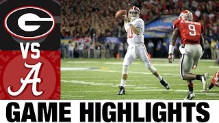 #2 Alabama vs #3 Georgia | 2012 SEC Championship Highlights | 2010's Games of the Decade