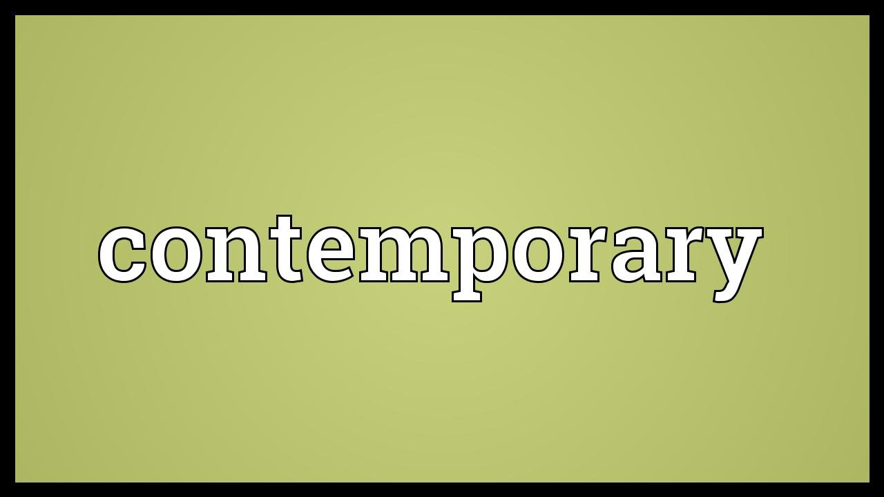 Contemporary Meaning  YouTube