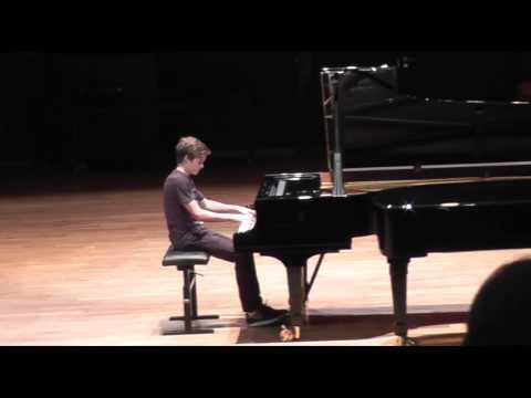 Robin Fournier examen de fin de 2è cycle de piano au Conservatoire d'Aix
