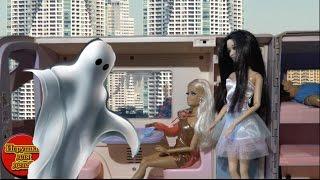 Барби поезд привидение, Ракель в панике, Сериал Куклы Барби мультики