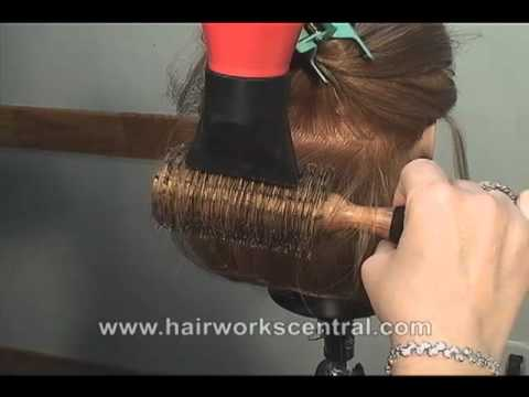 FREE HAIRDRESSING LESSON, How to blow dry difficult frizzy hair.