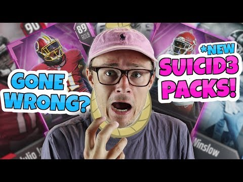 IF I LOSE I HAVE TO DISCARD EVERY CARD I PULL *HOLY CRAP!* MADDEN 18 SUClDE PACKS!!
