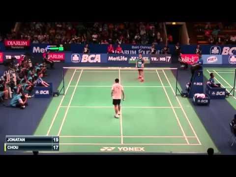 Christie Jonatan vs Chou Tien Chen | Badminton 2015  New